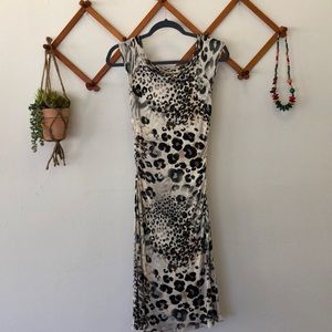 Three Dots Animal Print Fitted Dress